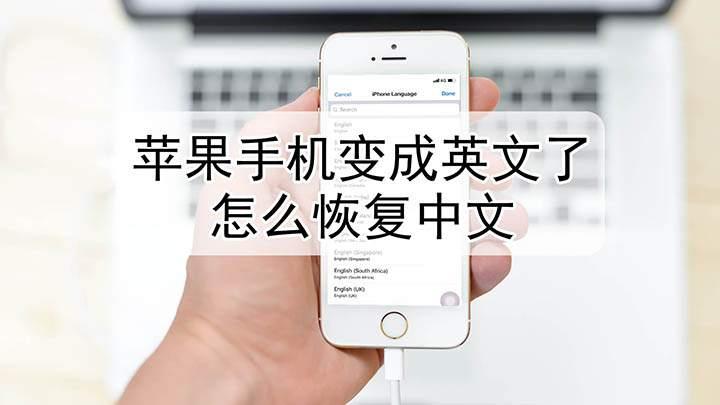 苹果手机变成英文了怎么恢复中文